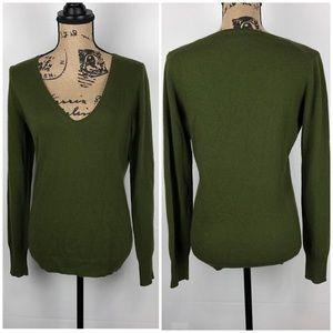 J. Crew Wool Cashmere Blend V-Neck Sweater Sz M